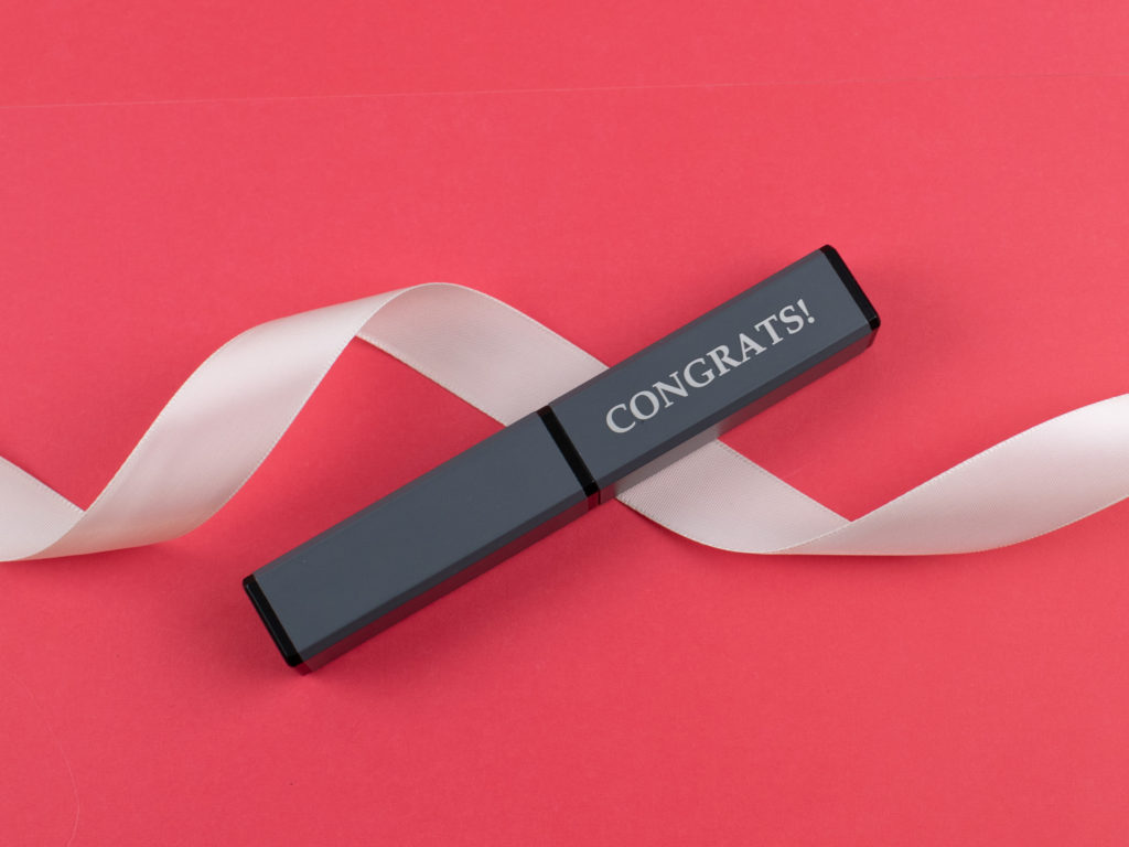 Square Gift Tube is perfect for giving pens out as presents