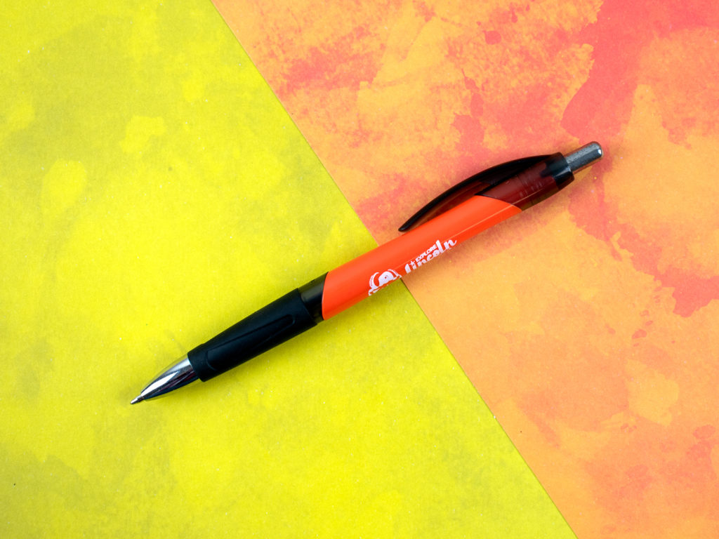 Gassetto striking solid and chrome accents. Shapely comfort grip for writing ease