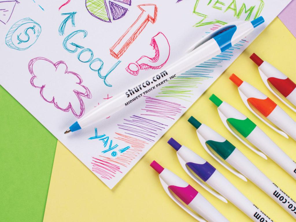 Javalina Color Write Pen doodling in color matched ink