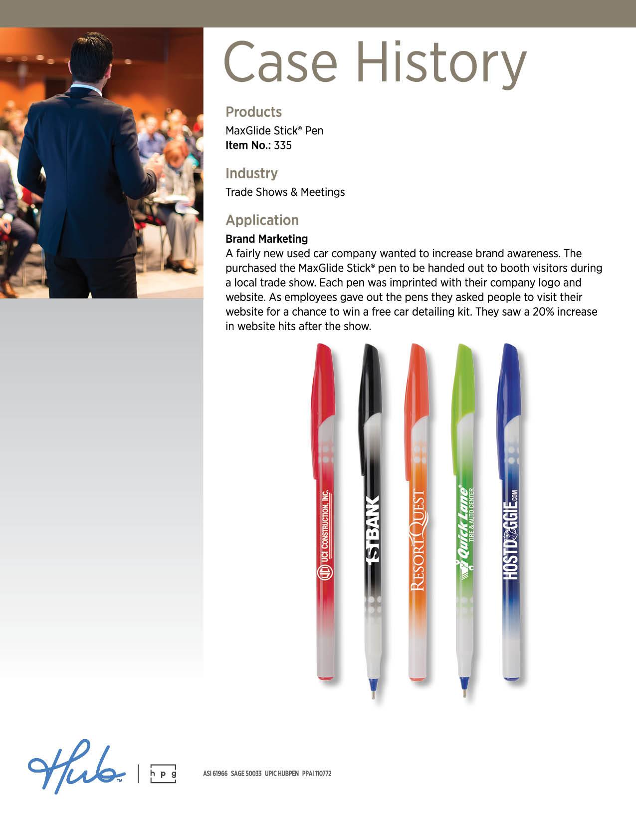 MaxGlide Stick Trade Show Case History
