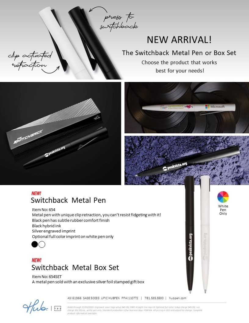 New Switchback Metal Pen and Box Set