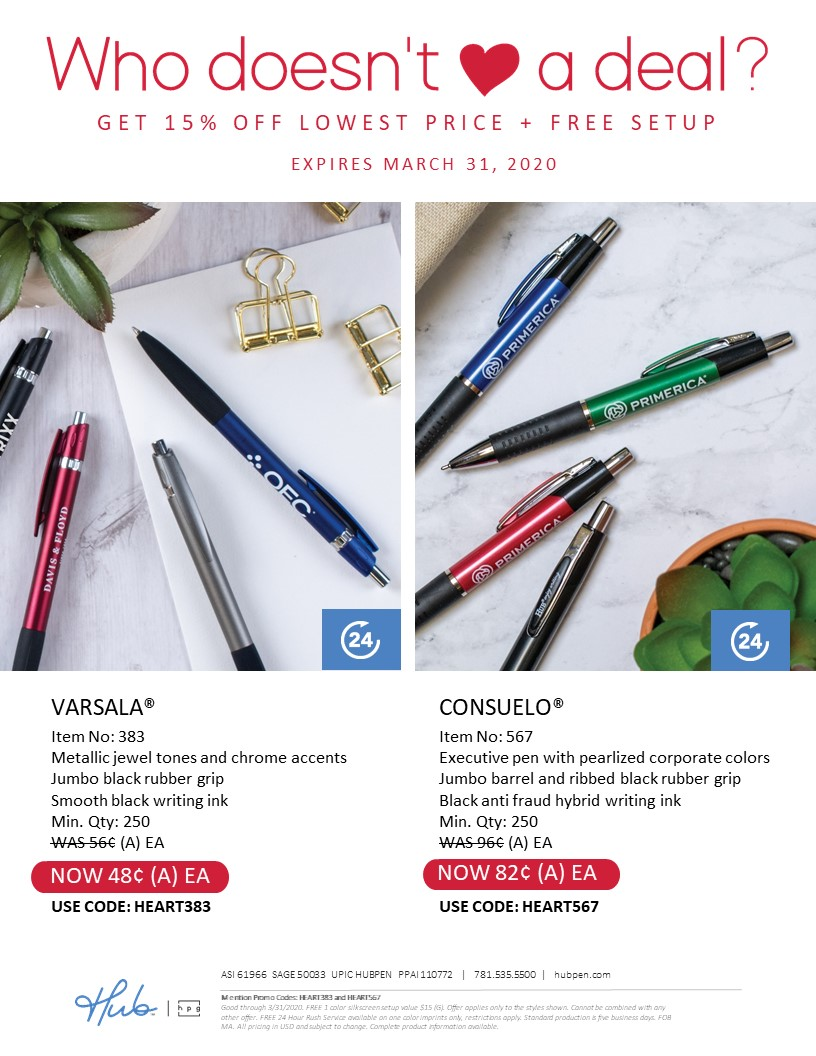 You'll love these promotional pen deals