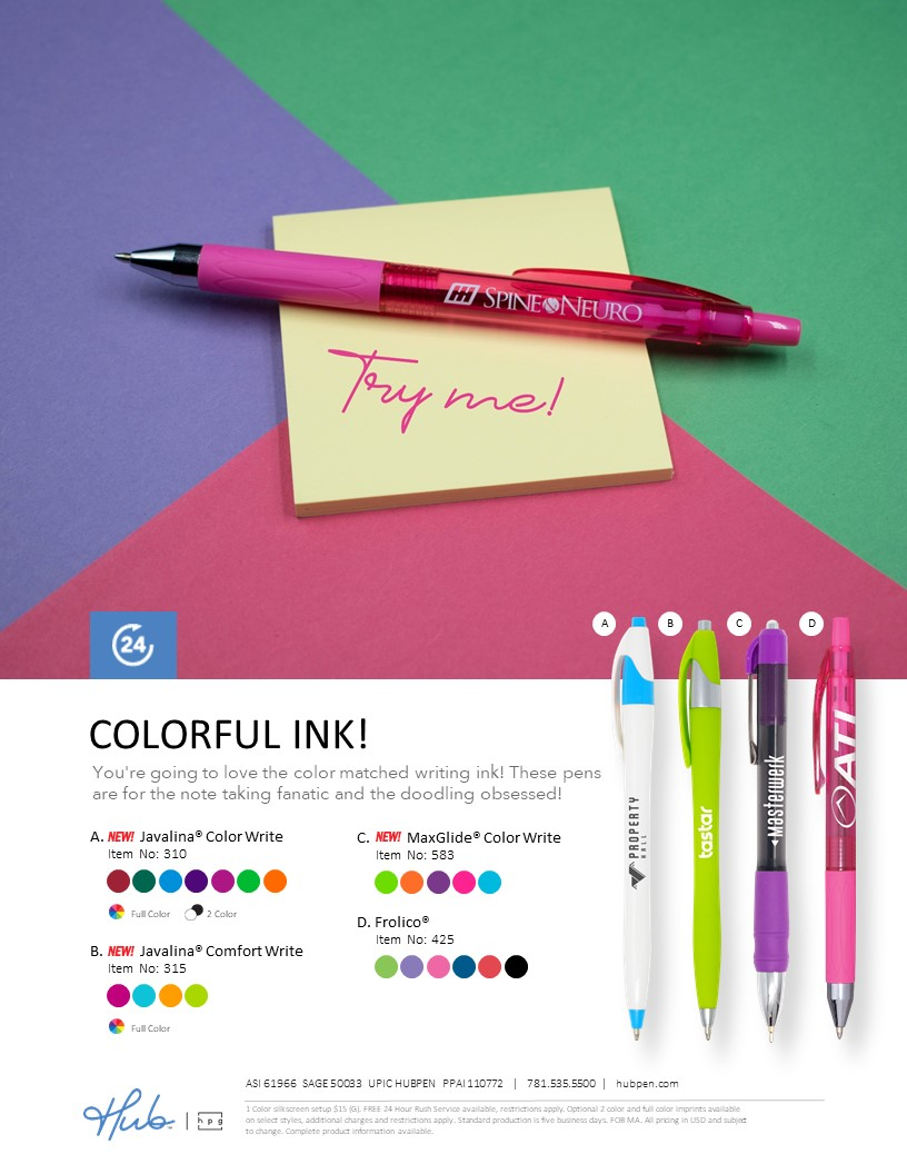 Colored Ink Pens
