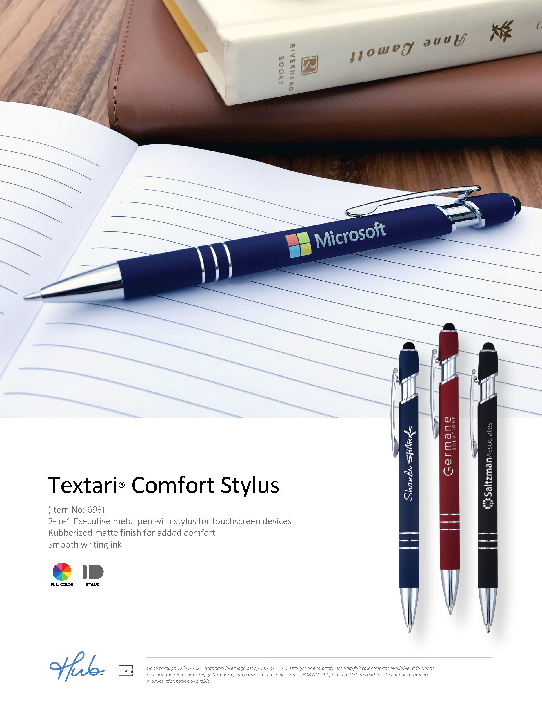 Textari Comfort Stylus pen flyer (Hub branded)