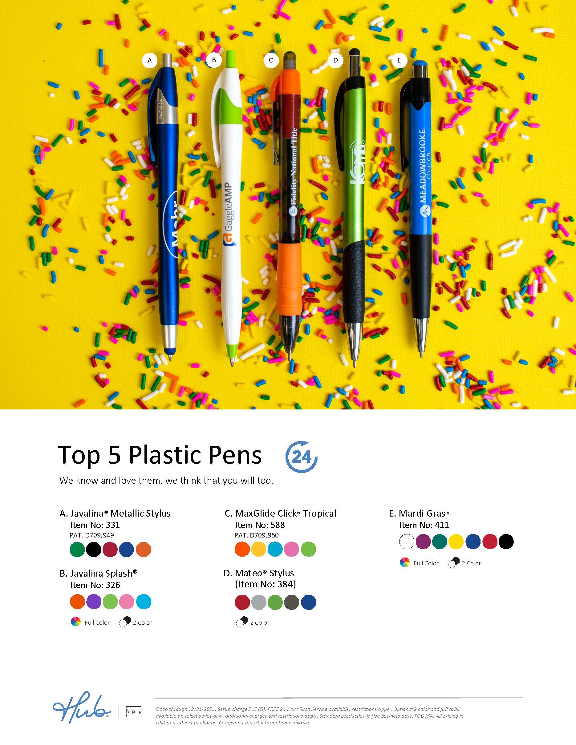 Top 5 Metal Pens Flyer (Hub branded)
