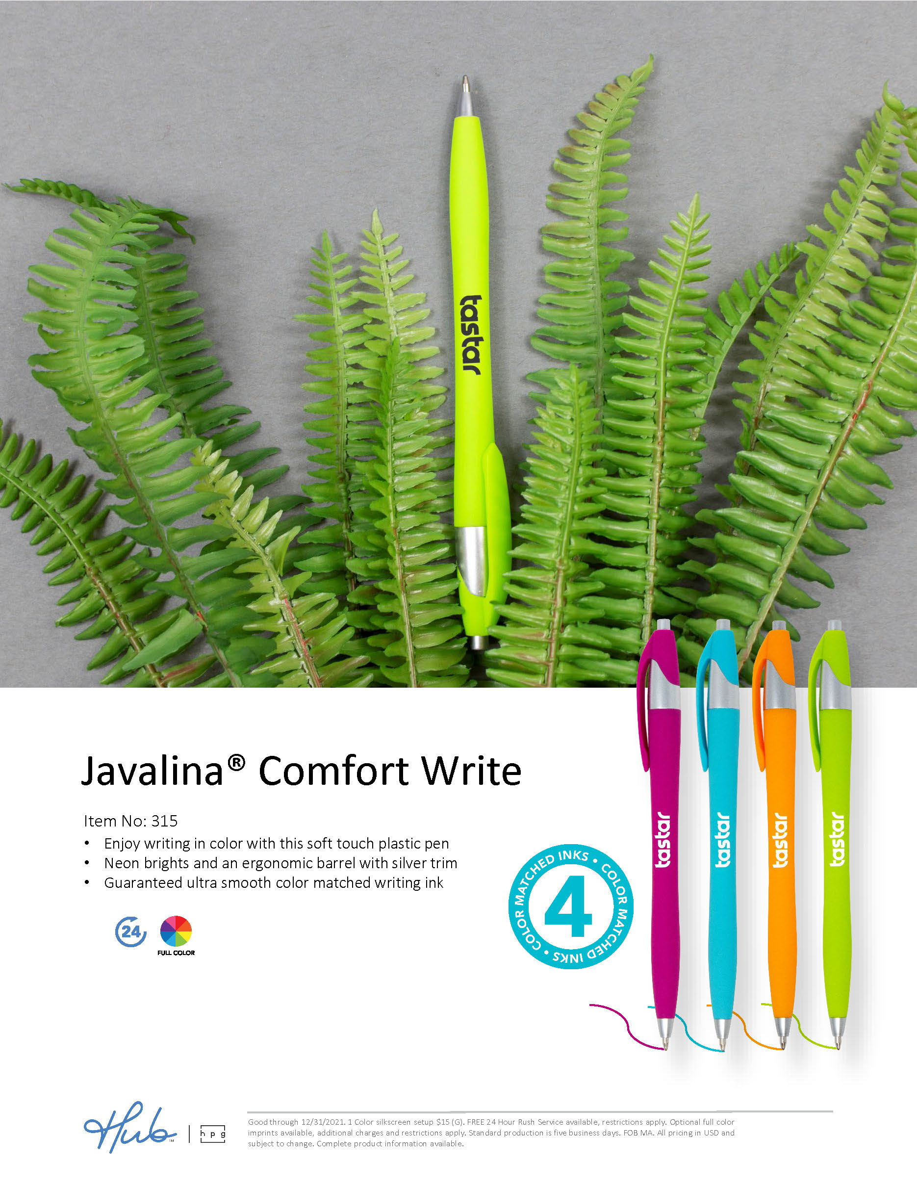 315 Javalina Comfort Write with 4 color matched inks